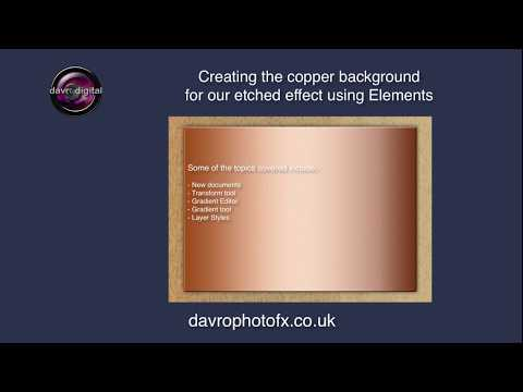 Creating a Copper background for Etched effect Photoshop Elements