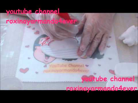 how to make  baby booties? gum paste tutorial by Roxana DLM