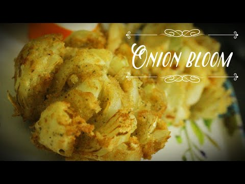 Onion bloom recipe - Cheese onion bloom recipe - Cheesy onion bloom