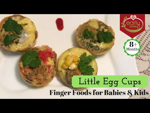 Little Egg Muffins With Veggies & Herbs | Baby & Kids Finger Food Recipe - Early Foods