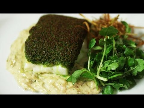 How To Make Herb Encrusted Cod With Creamed Fennel And Crispy Leeks: Simply Gourmet