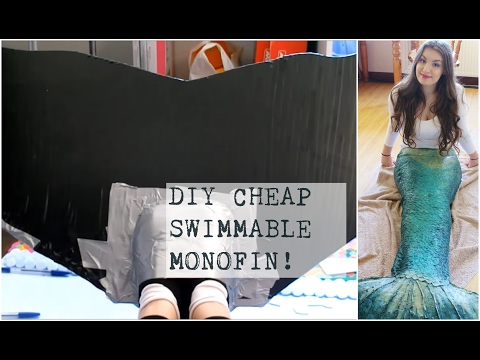 DIY Silicone Mermaid Tail Tutorial #2 -Easy Swimmable Monofin | PassionFruitDIY