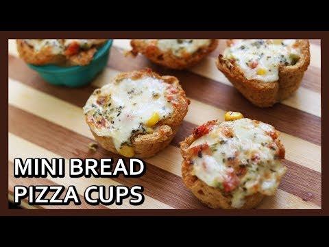 Bread Pizza Cups Recipe | Bread Pizza Cups in Airfryer |  Easy Kids Snacks | Healthy Kadai