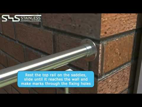 Glass Balustrade Installation Video from Stainless Handrail Systems Ltd