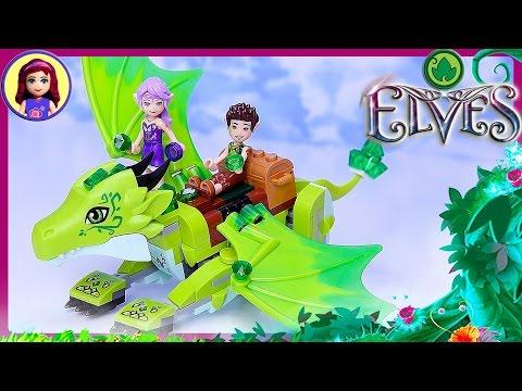 Lego Elves Green Earth Dragon The Secret Market Place Set Build Review - Kids Toys