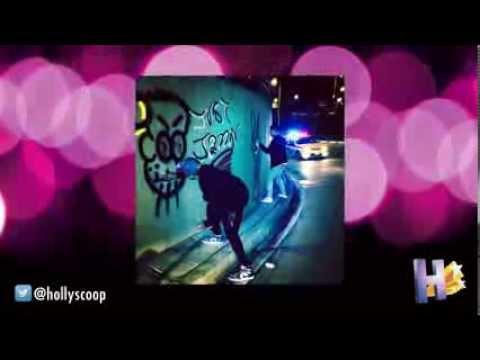 Justin Bieber Doing Graffiti 'Art'