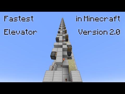 [BROKEN IN 1.11] Fastest Elevator in Minecraft V2 - It's now 3x4 in size! :o