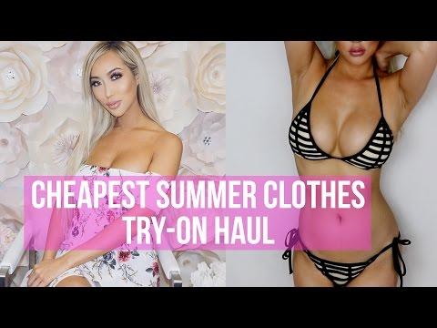 CHEAPEST SUMMER CLOTHES TRY-ON HAUL - AMI CLUBWEAR    Arika Sato