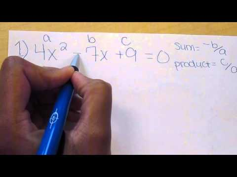 Finding the sum and product of the roots