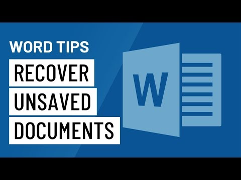 Word Quick Tip: Recover Unsaved Documents