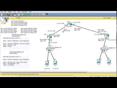 EIGRP Composite Metric Calculation and Configuring different delay values and Bandwidth values