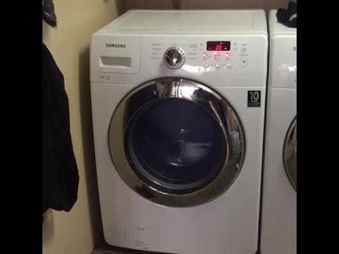 Samsung front load washer walking across floor on spin cycle