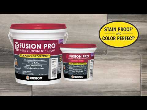 Fusion Pro® Grout is Stain Proof and Color Perfect