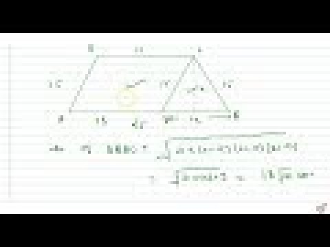 Find the area of a trapezium whose parallel sides `25 c m ,13 c m` and other sides are `15 c ma...