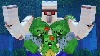 Zombie vs Villager Life 9 - Alien Being Minecraft Animation