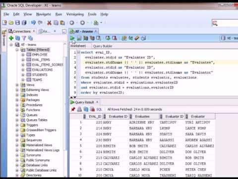 14 of 15 SQL Basics with Oracle - Self-joins and multiple joins between the same 2 tables