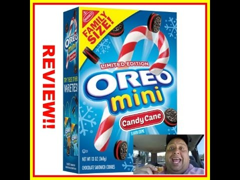 Oreo Mini Candy Cane Cookies REVIEW!