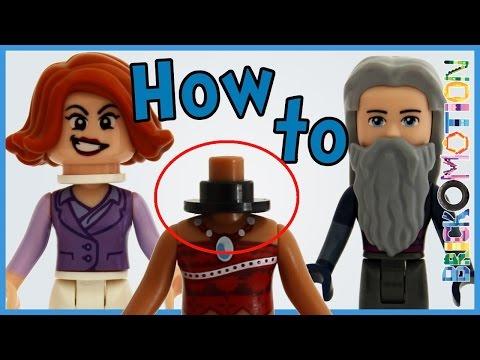 How to put Minifigure Heads on Minidolls