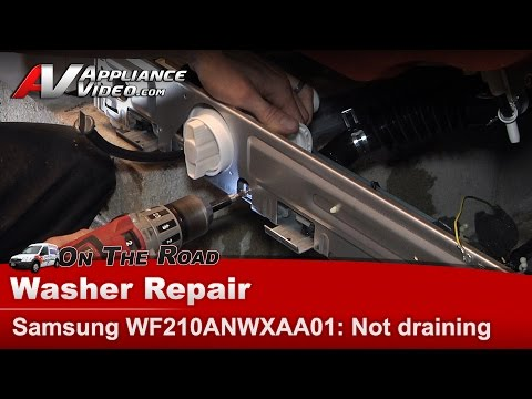 Samsung Washer diagnostic & Repair  - Will not drain or go into spin cycle