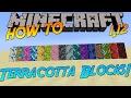 Minecraft 1.12 | How To: Craft Glazed Terracotta Blocks!