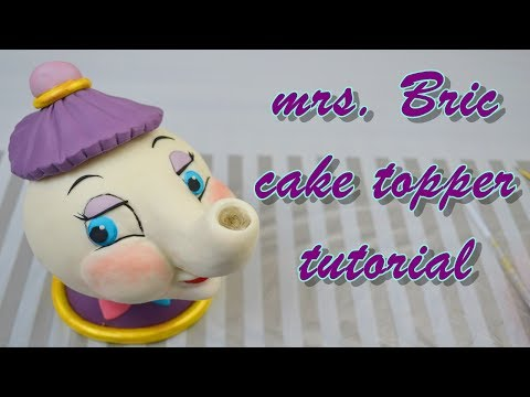 mrs. BRIC beauty and the beast cake topper fondant - teira bella e la bestia pasta di zucchero