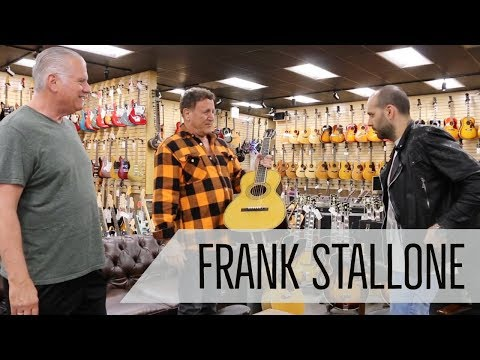 Frank Stallone brings a gift for Norm at Norman's Rare Guitars