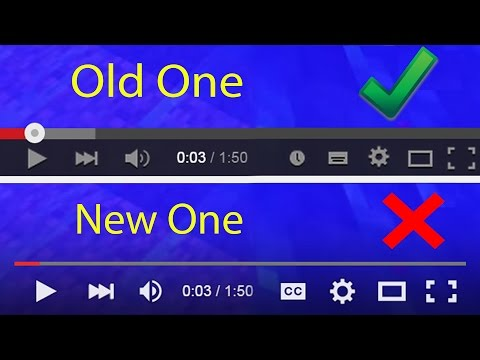 How To Get Back The Old YouTube Player?
