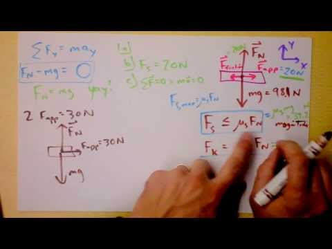 Kinetic and Static Friction Worked Example | Doc Physics