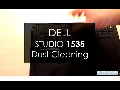 Dell Studio 1535 Fan Dust Cleaning (+Keyboard Clean Up).