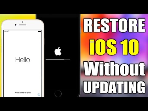 RESTORE  iOS 10 - 10.2 WITHOUT Updating Or LOSING Jailbreak !!!
