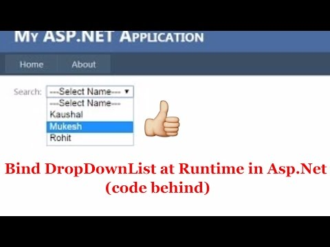 How to bind Dropdownlist at run time in Asp.Net