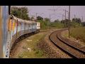 Telangana Superfast Hyderabad to Nagpur Full Journey Bangalore Rajdhani Overtake & High Speed Skips