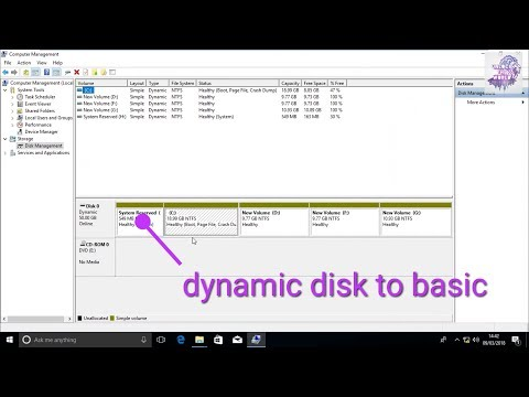 How To Convert A Dynamic Disk To Basic Disk
