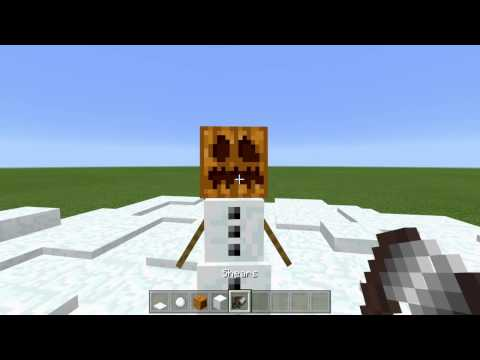 Minecraft How to make a real snowman