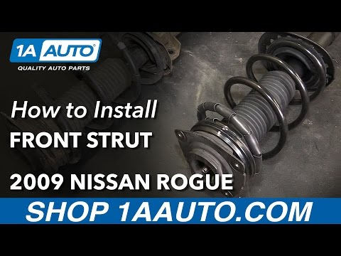 How to Install Replace Front Strut Spring Assembly 2008-11 Nissan Rogue 2012 (Pre 1/12 Production)