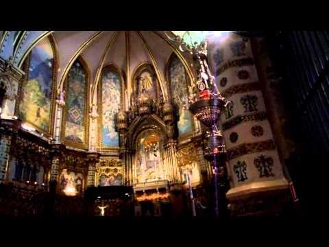 Royal Basilica with Black Virgin in Montserrat- Spain