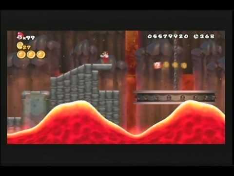New Super Mario Bros. Wii: World 8-2 (Hidden Exit) & 8-3