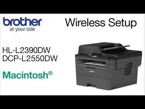 Connect DCPL2550DW to a wireless computer - Macintosh