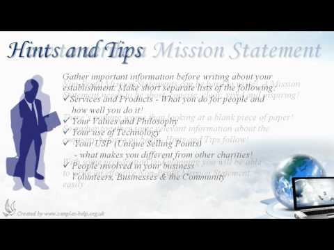 How to write Non-Profit Mission Statements