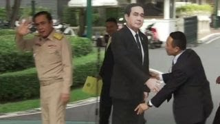 Thai PM leaves cardboard cutout to answer press
