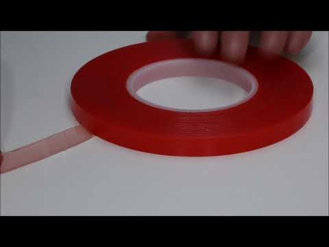How to correct a reverse-wound roll of double sided tape. From Presco