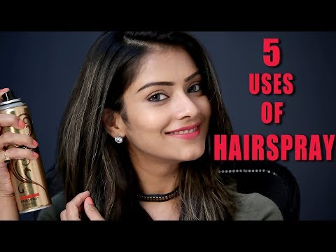 5 Uses of Hairspray | 5 Different Ways To Use Hairspray | Hairspray Hacks | Foxy Makeup Tutorials