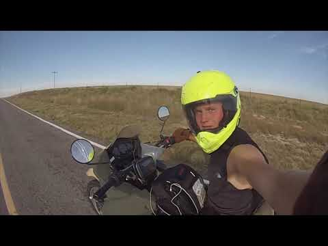 Across America on a motorcycle in 8 minutes