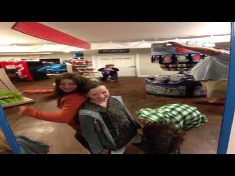 kids dancing in fun house mirror
