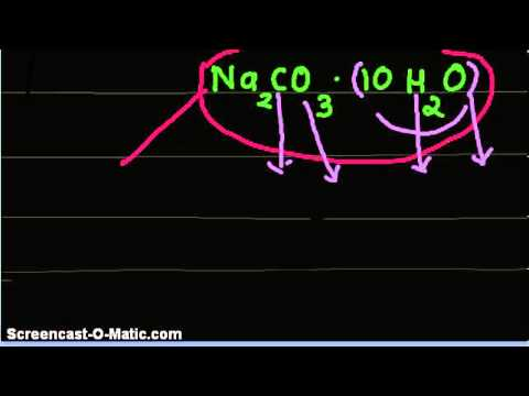 Video-What is the mass % of water in Sodium Carbonate Decahydrate Na2CO3.10H2O