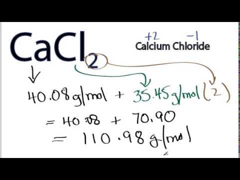 Molar Mass / Molecular Weight of CaCl2