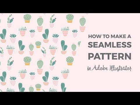 How to make a seamless pattern in Adobe Illustrator