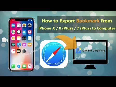 How to Export Bookmark from iPhone X / 8 (Plus) / 7 (Plus) to Computer