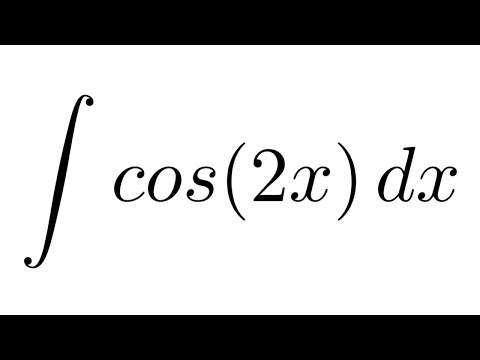 Integral of cos(2x) (substitution)