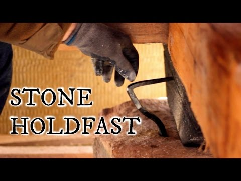 Our timber frame cabin part XVI: HOLDING FAST TO STONE